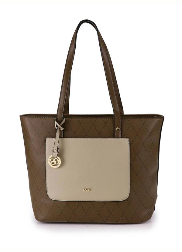 5d44fe801 Passarela - Bolsa Shopping Bag Gash Taupe - Passarela
