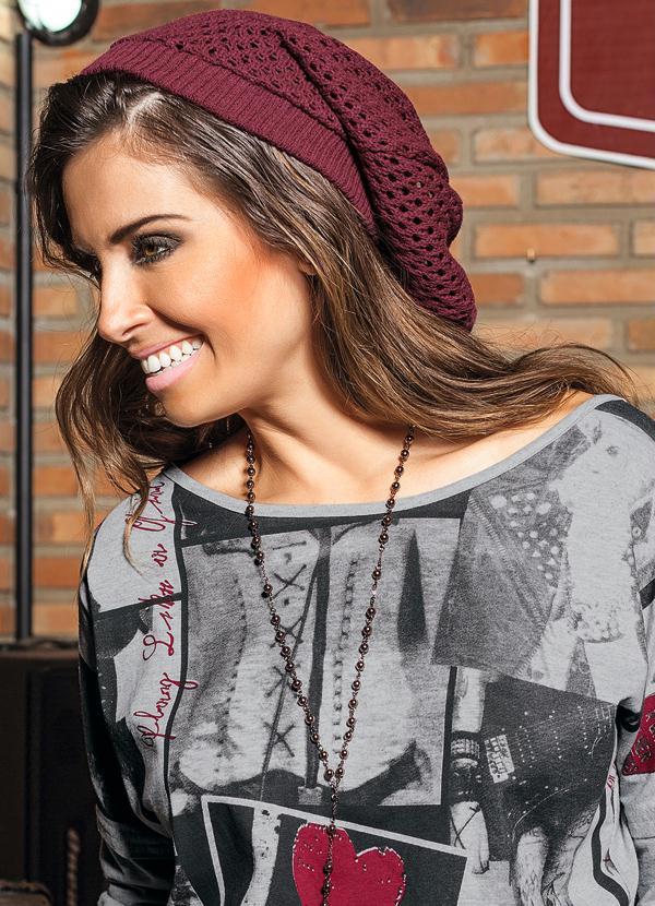 Gorro Feminino Bordô - Moda Pop 5198d60f279