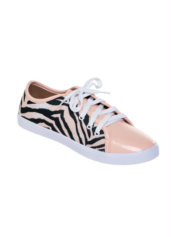 1c5c3a2e129 Queima Estoque - Tênis Esportivo Feminino Branco Rosa Pink - Queima ...