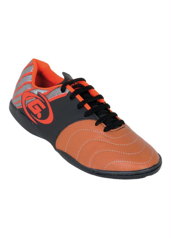 067a7e1136a64 Rally - Chuteira para Society Umbro Fifty Laranja e Azul - Rally