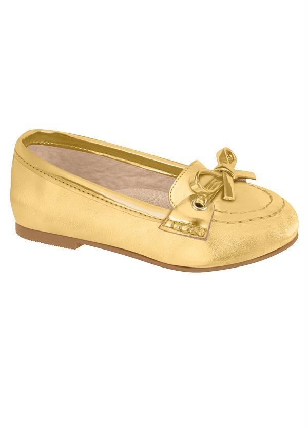 f634021b58 Molekinha - Sapatilha Molekinha Dourada para Bebê - Perfecta