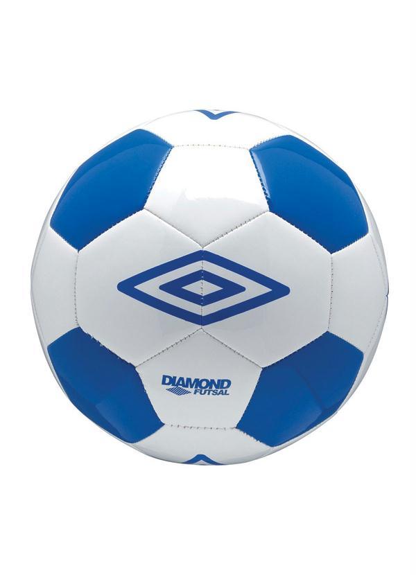 fe19af5a7b265 Rally - Bola Diamond Pro Futsal Umbro Branco Azul - Rally