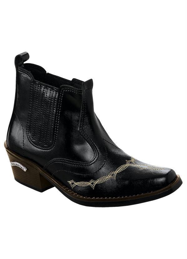 e836866f5eea0 Queima de Estoque - Bota Cowboy Masculina Preta - Queima de Estoque