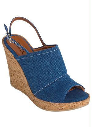 29973b7bab produto Queima de Estoque - Sandália Anabela Jeans