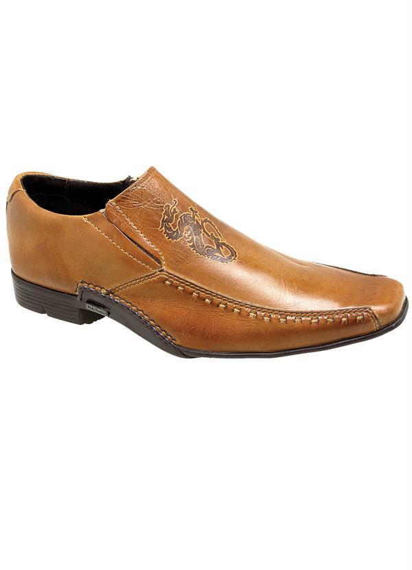 6d83c0858e Queima estoque - Sapato Masculino Bege - Queima de Estoque