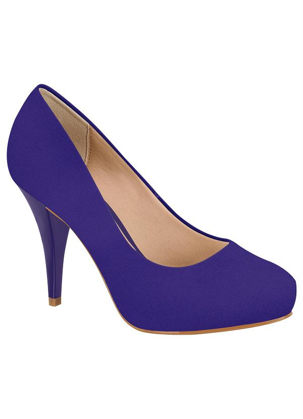 d068930a20 Beira rio - Sapato Scarpin Beira Rio Azul - Perfecta