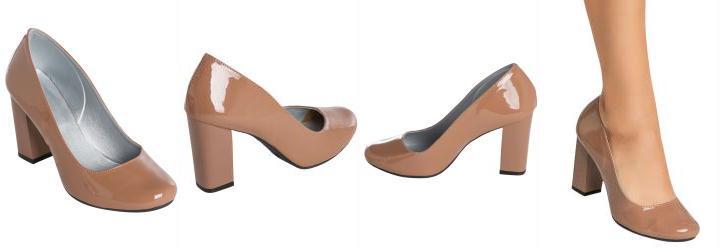 f1e92f02d 1.0200657844543457 Sapato Envernizado Nude de Salto Quadrado