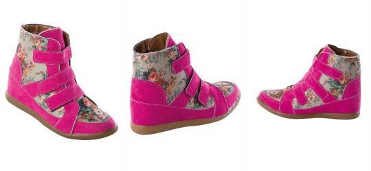 20524fd927c Queima Estoque. 0.7387009859085083 Sneaker Infantil Rosa com Estampa Floral