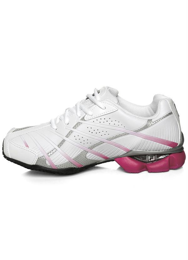 ba80c207df Fila - Tênis Fila Power Girl Branco/Pink - Rally