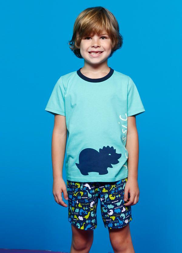 bb09c89d9c797e Puket - Pijama Infantil Menino Azul Puket