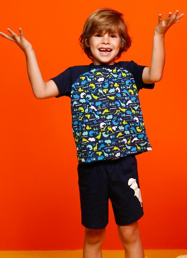 6923849fa4ad55 Puket - Pijama Masculino Kids Azul Puket