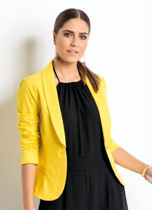 88e2c5fa0d produto Quintess - Blazer Clássico Amarelo