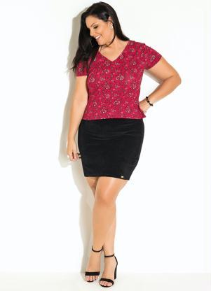 e013cb9236 Quintess - Blusa com Decote V Paisley Vermelho Quintess - Quintess