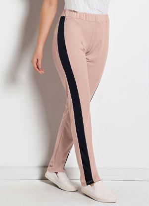 98685d80a3 produto Queima Estoque - Calça Soltinha com Recorte Lateral Rosa e Preta
