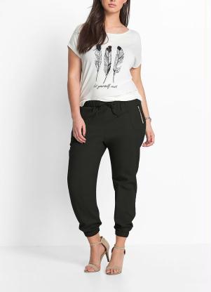 f878325b5 Calça Cropped Plus Size - Compre Online | Posthaus