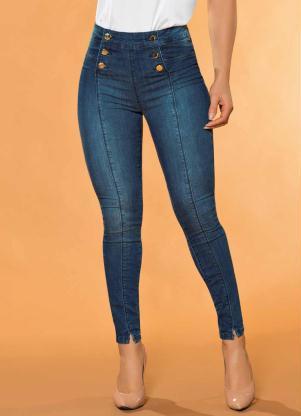 798e074d8 Calça Hot Pants com Botões Sawary Jeans
