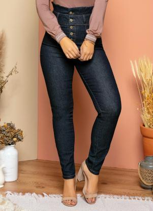 944e95d2d Calça Quintess Jeans com Babado no Cós