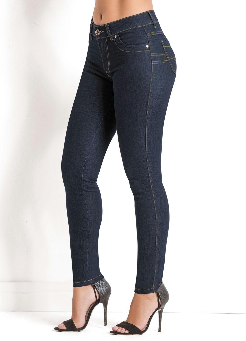 cd3442edd Calça Jeans Sawary Azul Escuro Levanta Bumbum - Sawary Jeans