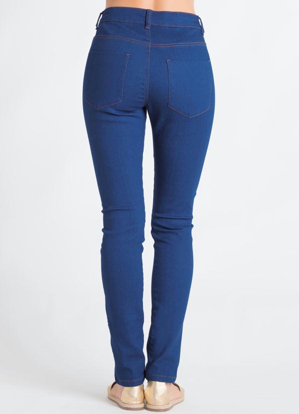 5eda4c96f Calça Cigarrete Jeans Azul com Zíper - Quintess
