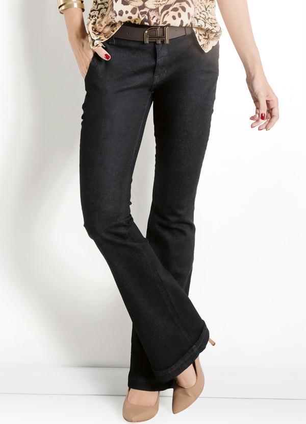 33a32bb91e4df Calça Jeans Escuro Flare Ana Hickmann - Multimarcas
