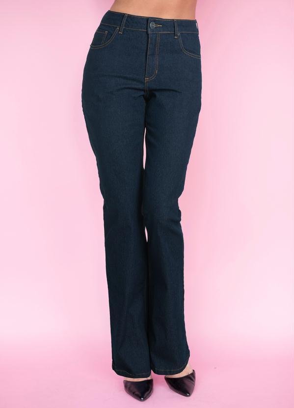 ea5f808ce Bonprix - Calça Jeans Flare Azul Escuro - bonprix