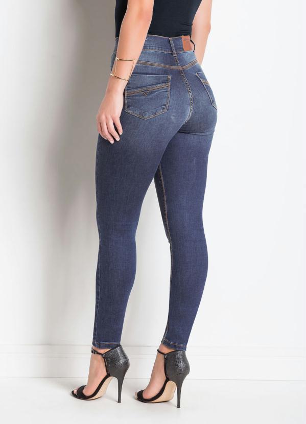 9a9ad7f24b Sawary Jeans - Calça Jeans Sawary Modelo Ajustável Legging Azul ...