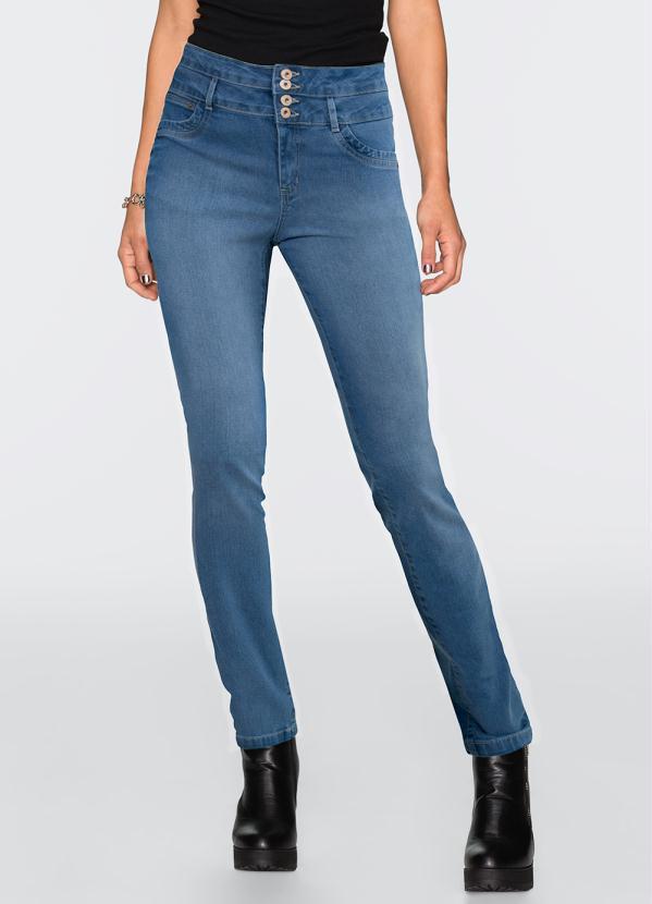 3c93f8109 Quintess - Calça Saruel Jeans com Bolsos Frontais - Quintess