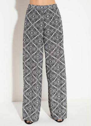 09946bdc7 produto Quintess - Calça Pantalona Quintess com Elástico Lenço