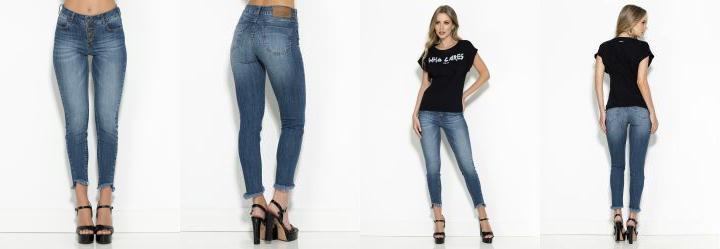 a10b1fdc6 1.5045497417449951 Calça Jeans Skinny com Botões Colcci
