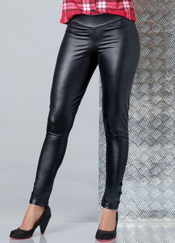 Calça Legging em Cirré Preta - Queima de Estoque 6a3c6cb09916b