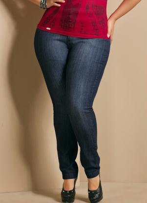 786b5593e produto Quintess - Calça Jeans Skinny Plus Size Azul