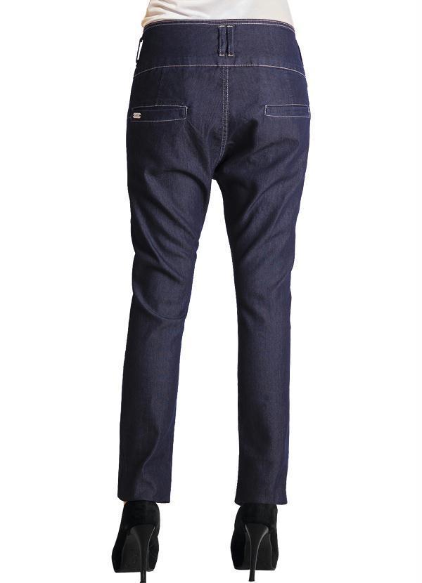 4b09b91e0 Quintess - Calça Jeans Modelo Saruel Jeans Escuro - Quintess