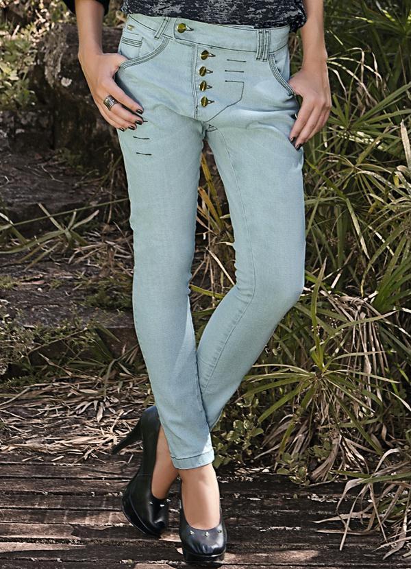 000860c10 Quintess - Calça Jeans Saruel Jeans Claro - Quintess