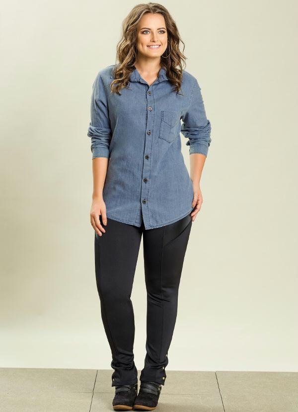 c43db0bb4 Quintess - Camisa Jeans Plus Size - Quintess