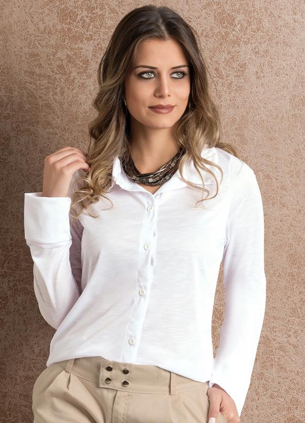 Moda Pop - Camisa Manga Longa Branca - Moda Pop 59a54a1d5bcaa