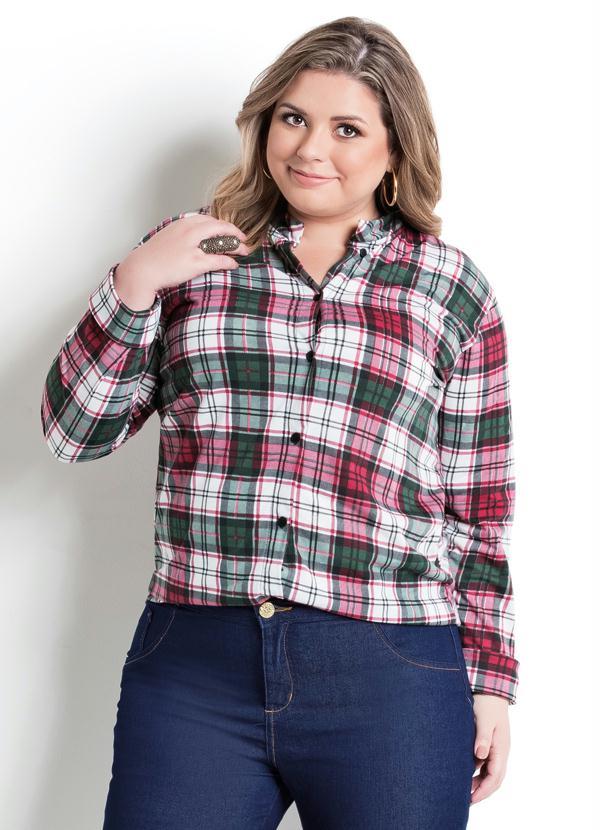 Camisa Manga Longa Xadrez Plus Size - Marguerite ff5eec9c88f