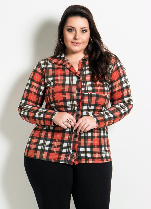 c2457415d1 Marguerite - Camisa Xadrez Plus Size - Marguerite
