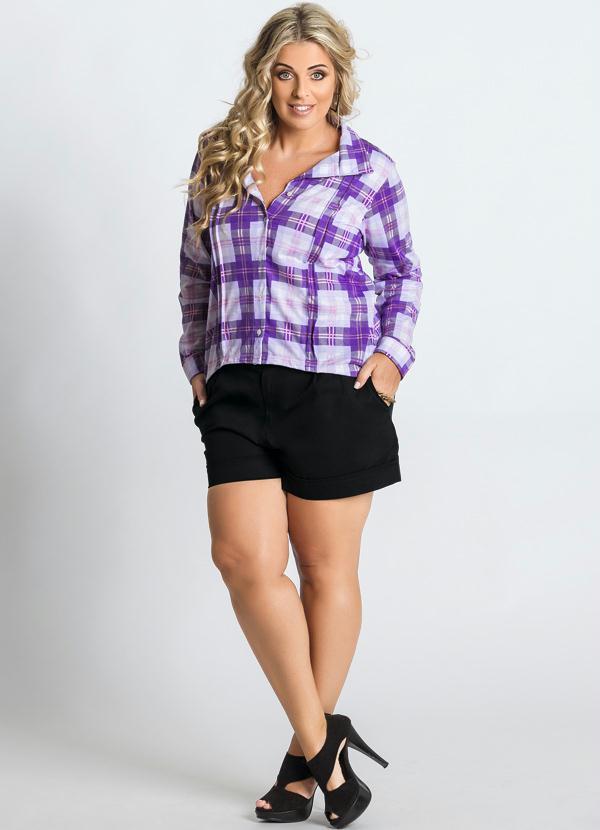 a4ac7a98a5 Marguerite - Camisa Xadrez Plus Size - Marguerite
