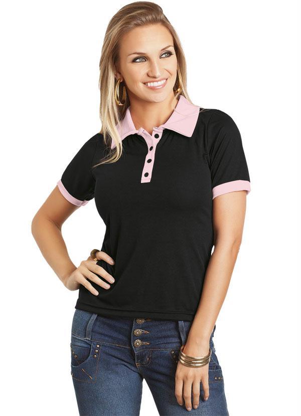 Camisa Preto Gola Polo - Queima de Estoque 8b4e96c09db56
