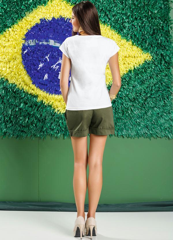 Camiseta Estampa Bandeira do Brasil - Queima de Estoque 19ac0e2c03e97