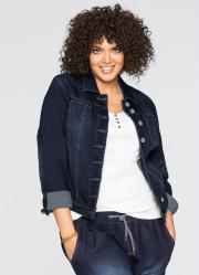 Jaqueta Jeans Azul Escuro