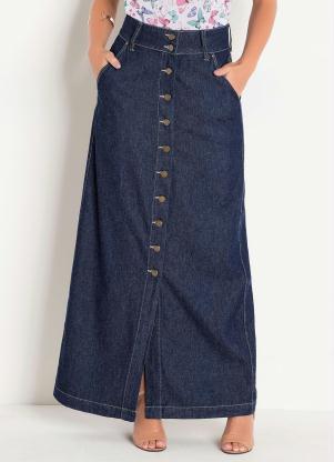 79f759902a produto Rosalie - Saia Longa Azul Escuro Moda Evangélica