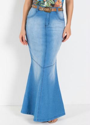4c68638e3 produto Rosalie - Saia Longa Moda Evangélica Modelo Sereia Azul