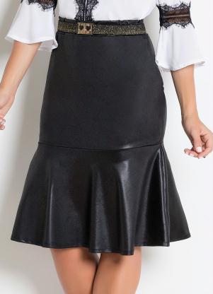 1beb011af4 produto Rosalie - Saia com Babados em Cirrê Preta Moda Evangélica