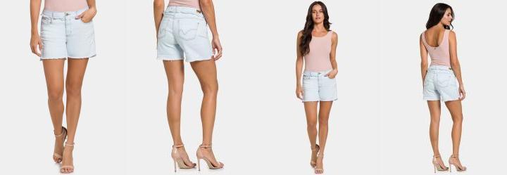 970161ffd Lunender Feminino. 0.0 Shorts Jeans Claro Lunender