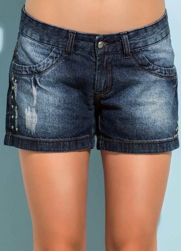 40e8b04a194a95 Quintess - Short Jeans Cintura Baixa