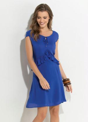 d6ea19ed06 produto Quintess - Vestido Quintess Azul com Babados Assimétricos