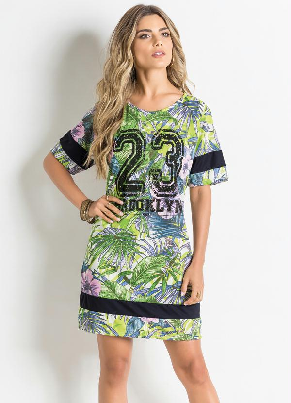 6547d6ced4 Moda pop - Vestido T-Shirt Tropical - Moda Pop
