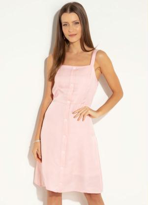 97e2527378 produto Quintess - Vestido Quintess Rosa com Elástico nas Costas