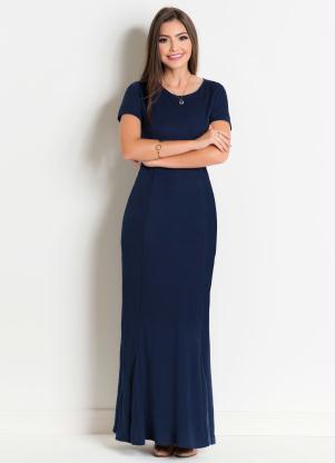 52241679e produto Rosalie - Vestido Longo Marinho Moda Evangélica